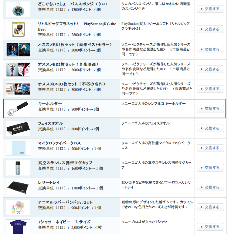 My Sony ID 商品交換 Screenshot (2)