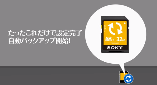7.sony SD card of auto backupSN-BA64